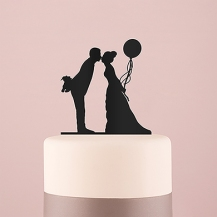 Acrylic Silhouette Cake Topper-black