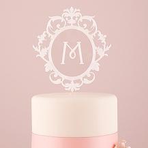 Classic Monograma Acrilico Cake Topper