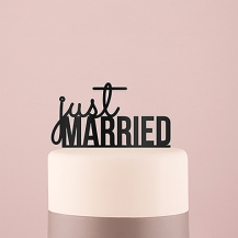 JUs Married Cake Topper Acrylic Black