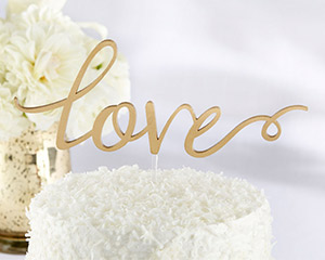 Love Letras Cake Topper
