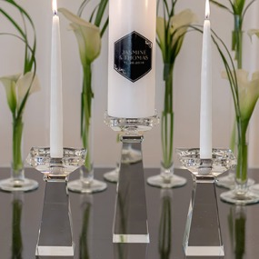 Cristal Candle Holder Set