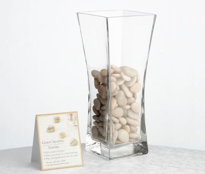 Alternativa Vase y Piedras Libro de firmas