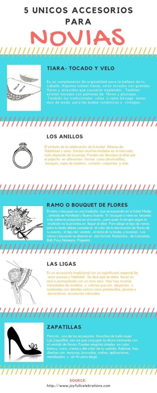 5 unicos accesorios para novias