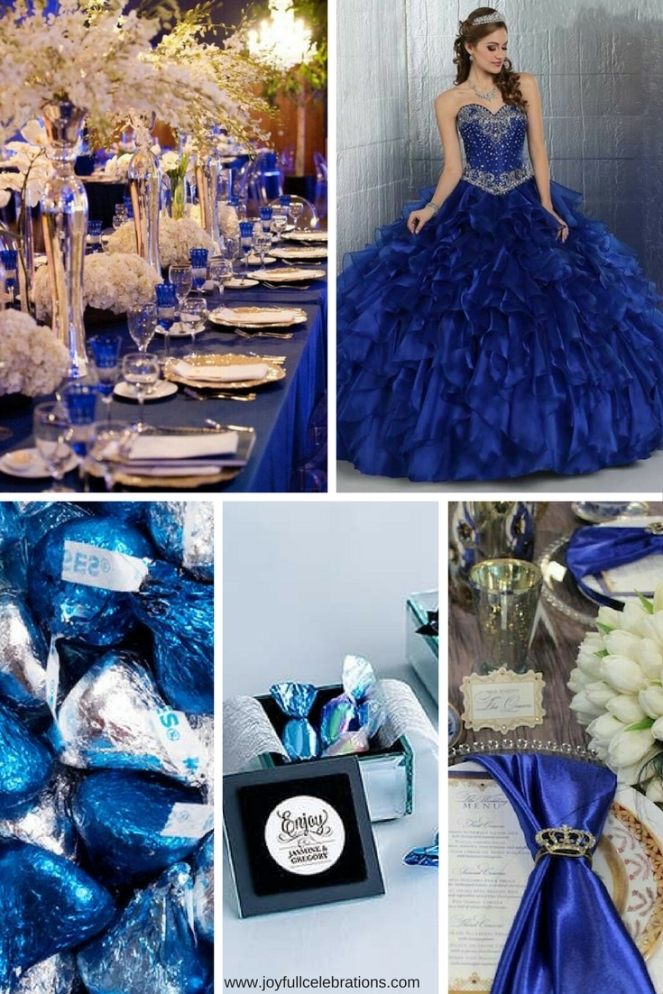 Blue Favors Decorations- Azul Rey Decoraciones