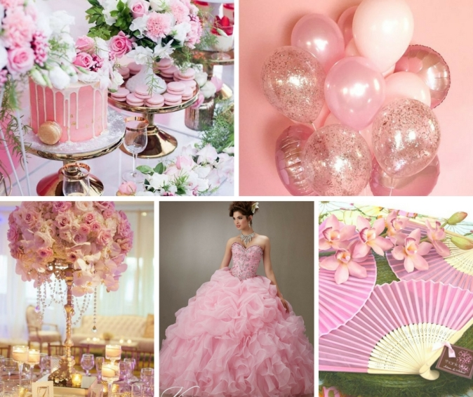 Pink Decorations Quinceanera