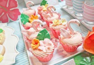 flaming cupcake