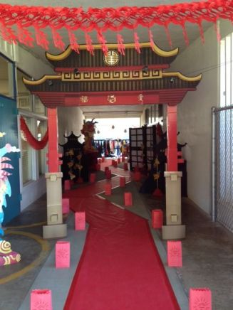 Mulan entry way decor