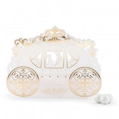 Cinderella Carriage cajas para Dulces set 10